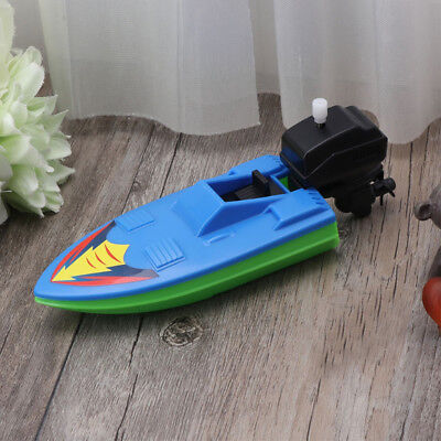 Funny Wind Up Clockwork Boat Ship Toy Play Water Bath Toy For Children Gift