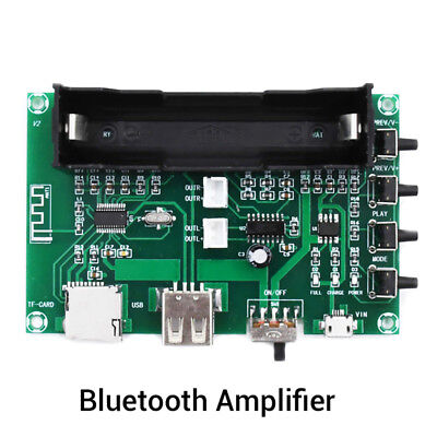 Bluetooth Power Amplifier Board PAM8403 Stereo AMP USB 18650 Battery Powe DE