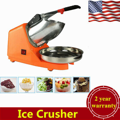 Commercial Ice Shaver Electric Snow Cone Maker Crusher Machine 143lbs 2200R/min