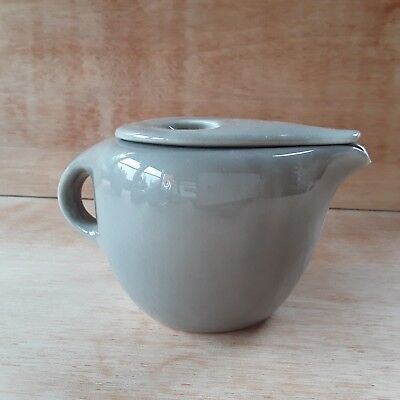 RARE Vintage c.1950 Russel Wright designed Iroquois Casual coffeepot OYSTER!!