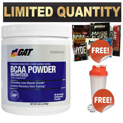 Gat Bcaa 50 Serves Unflavoured Lean Muscle Growth Recovery Amino Acid Xtend