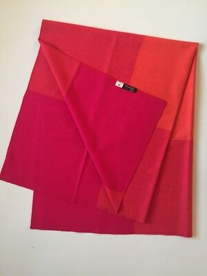 1960s Braniff Airlines Orange Fuschia Vicuña Wool Blanket by Alexander Girard