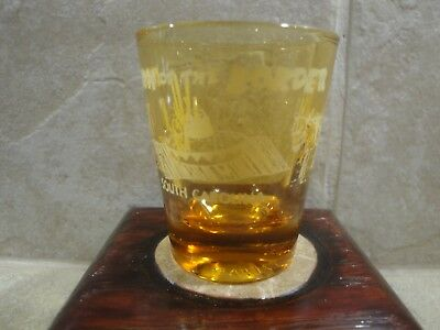 South Of The Border South Carolina Amber Glass Shot Glass