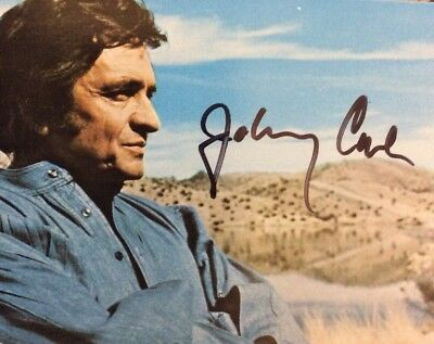 Johnny Cash Signed Photo Singer