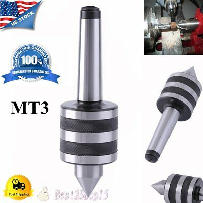 MT3 Live Center Morse Taper 3MT Triple Bearing Lathe Medium Duty CNC USA STOCK E
