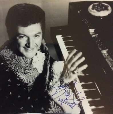 Liberace Signed Photo With Drawing Of Piano Entertainer