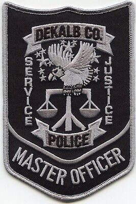 DeKALB COUNTY GEORGIA GA Service Justice MASTER OFFICER POLICE PATCH