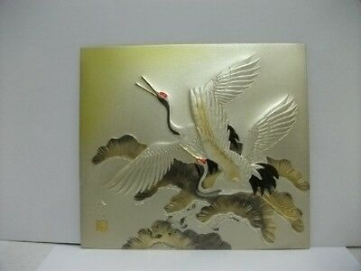 Pure gold, pure silver, a metal engraving product. Crane. HARUYAMA's work