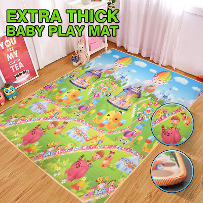 20mm Thick XXL 3x1.8m Baby Toddler Play Mat Floor Rug Animal Orchard Alphabet EO