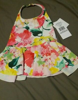baby girls RALPH LAUREN Halter Neck FLORAL TANKINI Skirted 18/24M (90cm) BNWT