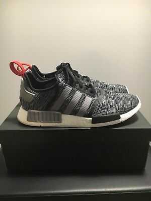ac357cbf4cab3 MEN'S ADIDAS NMD R1 BB2884 Glitch Camo Core Black Grey Red Size 12.5 ...
