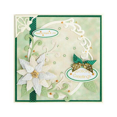 Christmas flower cutting dies stencil scrapbooking embossing album gift decor MX
