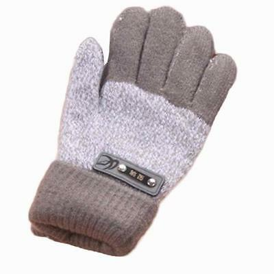 Thick Winter Warm Gloves Children Solid Knitted Mittens For Toddler Fashion Wear