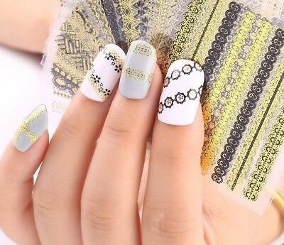 Beauty Nail Stickers Art 3d Design 24 Pcs/lot Manicure Charms Decals Decorations