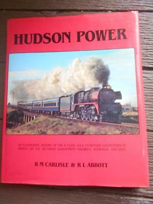 Rare 1st ed Hudson power locomotive Victorian railways VR history train book