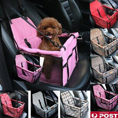 AU Folding Pet Car Seat Cover Safe Booster Basket Protector Dog Travel Carrier