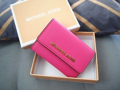 *FOR SALE*Michael Kors LEATHER COIN PURSE WALLET KEY SMALL - HOT PINK