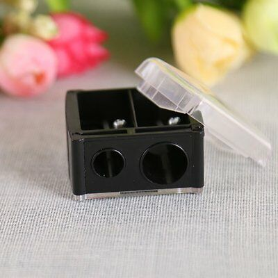 Make Up Pencil Sharpener Cosmetic For Eyebrow Lip Liner Eyeliner 2 Holes