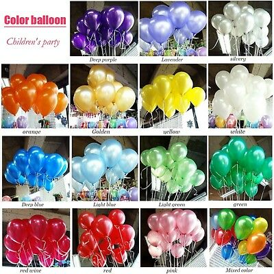 100pcs/lot Birthday Balloons 10inch Latex Helium Balloon Thickening Pearl Party