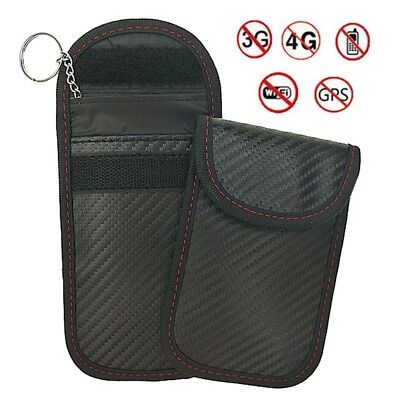 Signal Blocker Car Key Case Faraday Cage Fob Pouch Keyless RFID Blocking Bag