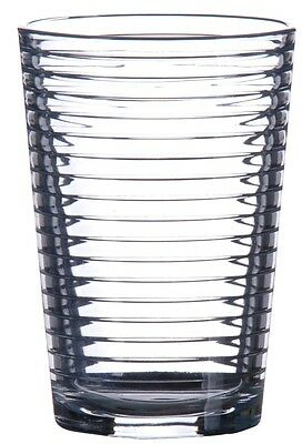Pasabche Rippled Glass Tumbler Set Stackable Juice Water Glasses Set of 6