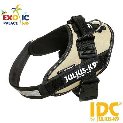 Julius-K9 Idc Powerharness Beige Earth Harness Adjustable For Dog Nylon