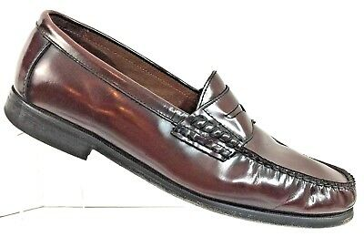 a7d1f5c2337 JOHNSTON MURPHY PANNELL Penny Loafers Burgundy Men s Size 12 D  20 ...