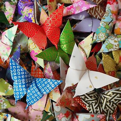50 Pieces Handmade Japanese Washi Origami Butterflies Decoration Wedding Party