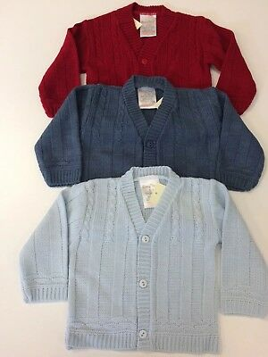 Baby Boy BOYS Spanish Style Knitted Cardigan New Born - 24 Months