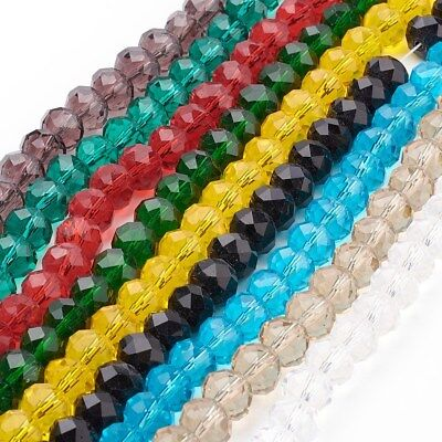 Glass Crystal Beads, Faceted, Abacus, Rondelle - 8 x 6mm or 6 x 4mm