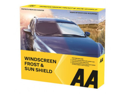AA Car Essentials Windscreen Frost & Sun Shield Protection Winter Car Cover