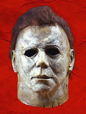 Deluxe Michael Myers Mask Halloween II Latex Full Head Adult Size Fancy Dress