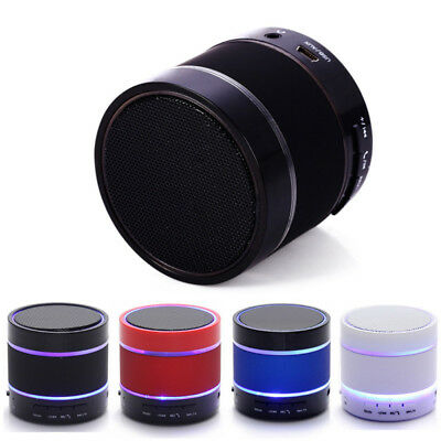 Cilindro Stereo Heavy Bass ricaricabile Bluetooth Wireless Music Speaker LED Lot