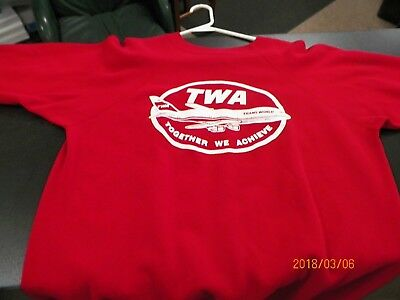 TWA Airlines Red Sweatshirt -Together We Achieve, Size XL by Hanes Sport Vintage