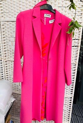 Three Piece Pink Dress Scarf And Coat Size 14 Mother Of The Bride Wedding Guest
