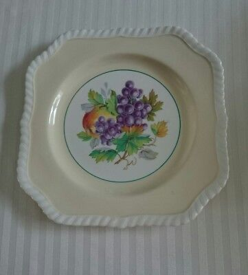 Johnson Brothers Square Pale Yellow Fruit Plate
