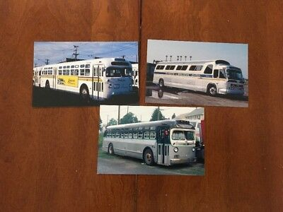 10 Vintage Bus Postcards.