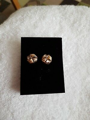 gold and silver earings