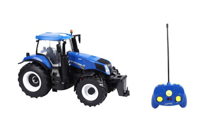 1:16 Scale Model - Remote Control Tractor - Blue - Great Stocking Filler