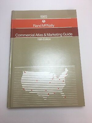 RARE 1985 Large Rand Mcnally Commercial Atlas Marketing Guide 116th A Condition