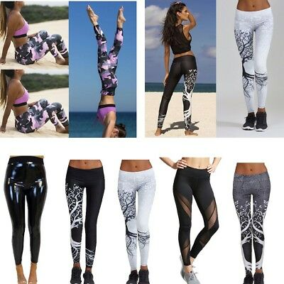 Women Ladies Yoga Pants Fitness Leggings Running Slim Exercise Sports Trousers