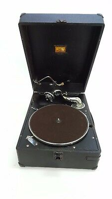 'His Masters Voice' HMV Antique/Vintage Gramophone in Carrying Case  - G641