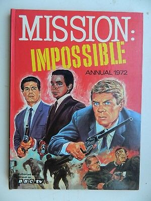 MISSION  IMPOSSIBLE  Annual  1972  Very  Good  Unclipped  / Crossword  Not  Done