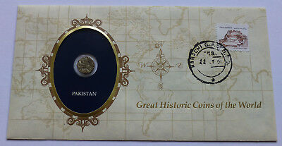 Pakistan (Medieval India) Shahi coin, Cover, Great Historic Coins of the World
