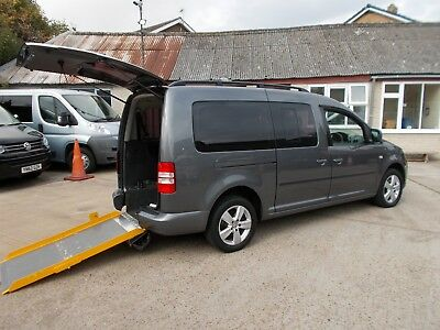 Wheelchair Accessible Wav Disabled Mobility 2011 Volkswagon Caddy Maxi 5 Seats