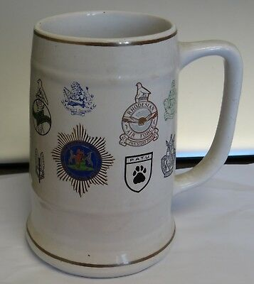 Rhodesia Mug - with badges from several units - see photos