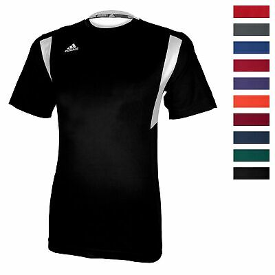 adidas Men's CLIMALITE Utility Short Sleeve Shirt Athletic Running Team Jersey