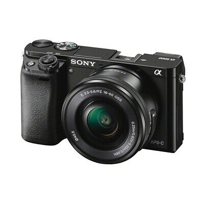 Sony Alpha A6000 24.3MP Mirrorless Digital Camera with 16-50mm Lens - Black