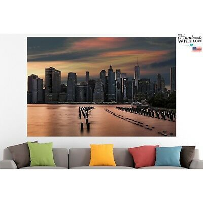 New York City Poster Print Canvas Sunset Wall Art Pin Up Room Decor Motivation