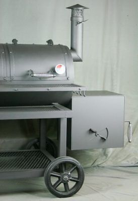 Reverse Flow Smoker. Heavy Duty Horizontal Smoker. Texas BBQ Smoker. Texas Pit.